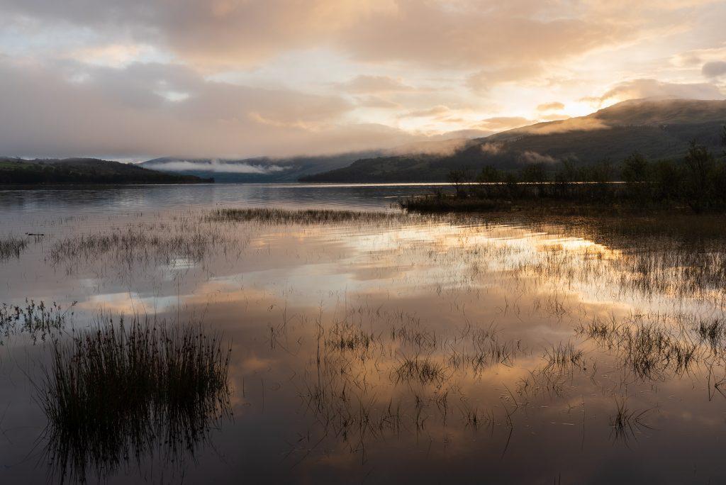 Loch Tay Sonnenaufgang