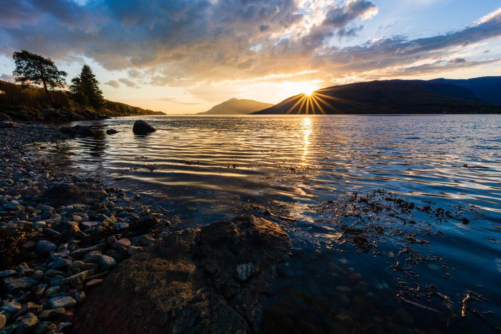 Sonnenuntergang am Loch Linnhe, Fort William