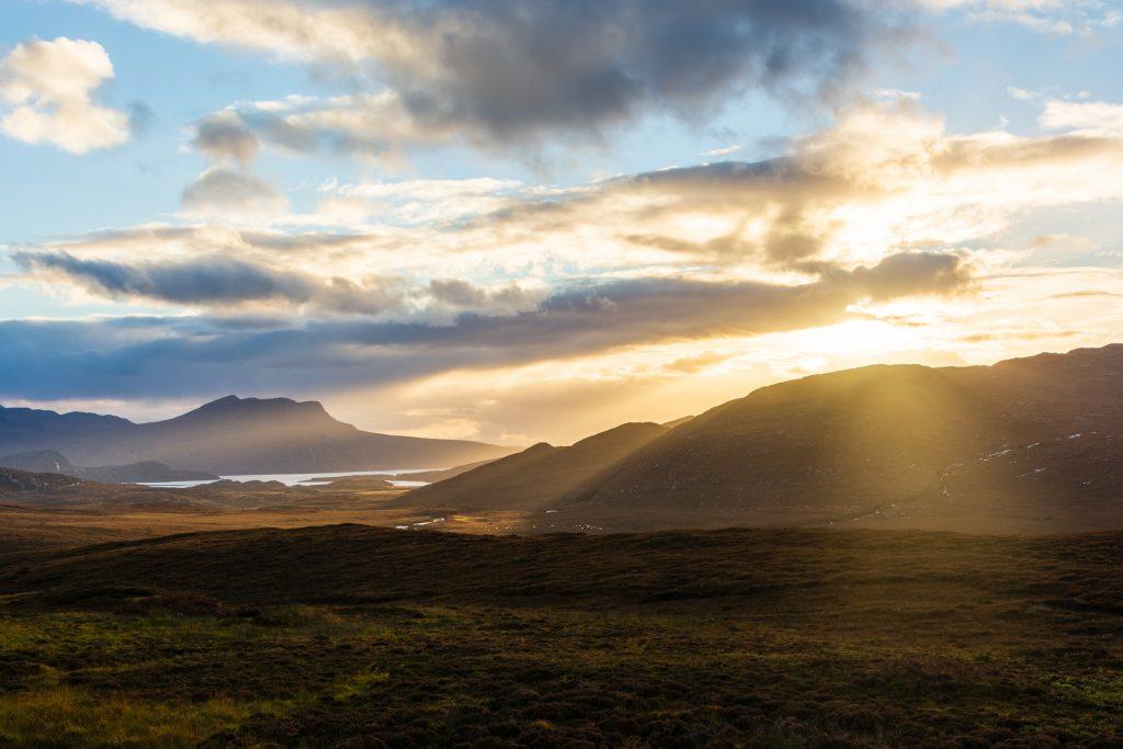 Sonnenuntergang in der Nähe von Ullapool